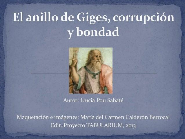 Autor: Lluciá Pou Sabaté Maquetación e imágenes: María del Carmen Calderón Berrocal Edit. Proyecto TABULARIUM, 2013