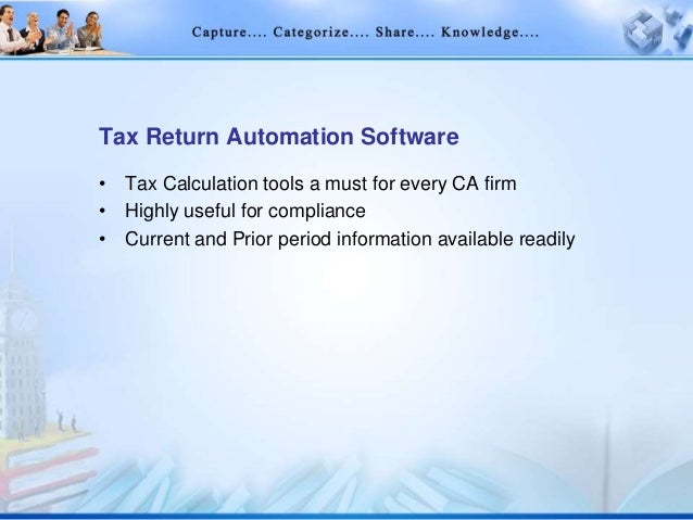 It infrastructure knowledge management in cas office for Tax document automation software