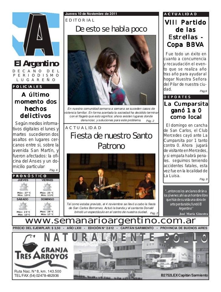 Jueves 10 de Noviembre de 2011                                            ACTUALIDAD                              EDITORIA...