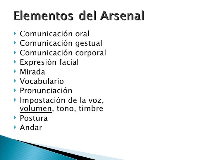 El Arsenal Comunicativo Slide 3