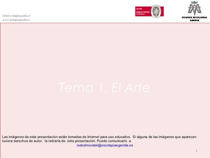 DEPARTAMENTO DE CIENCIAS SOCIALESHistoria del Arteinfo@escolapiasgandia.es                                                ...