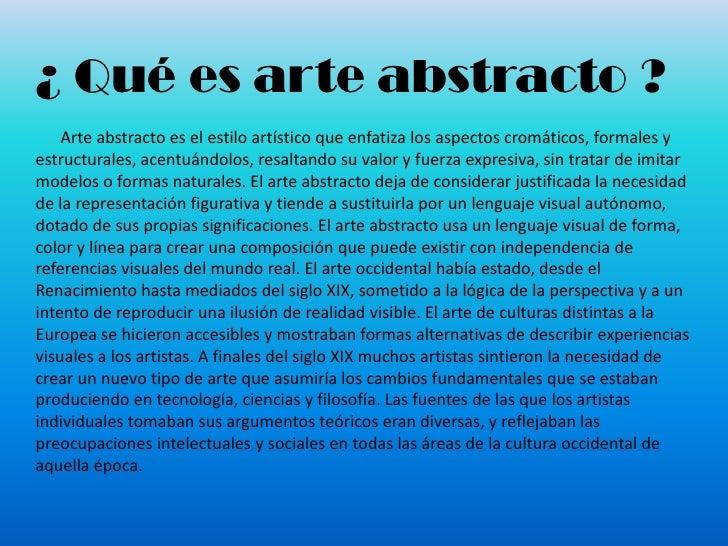 El arte abstracto for Q es arte mobiliar