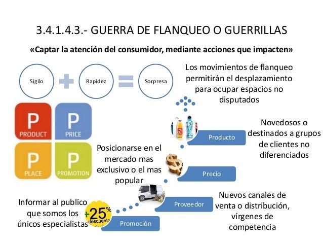 3.4.1.4.3.- GUERRA DE FLANQUEO O GUERRILLAS «Captar la atención del consumidor, mediante acciones que impacten» Sigilo Rap...