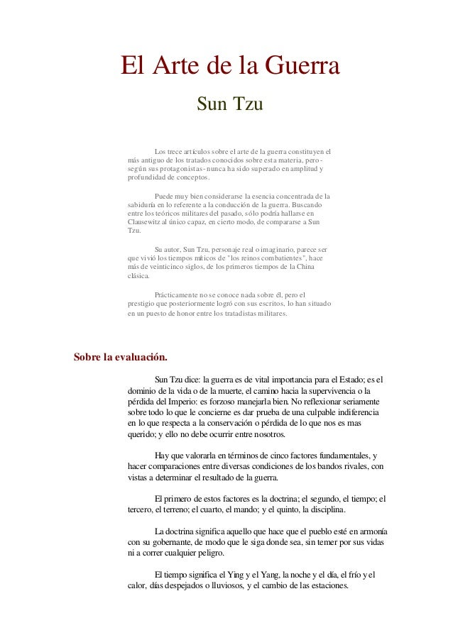 El Arte de la Guerra                                  Sun Tzu                   Los trece artículos sobre el arte de la gu...