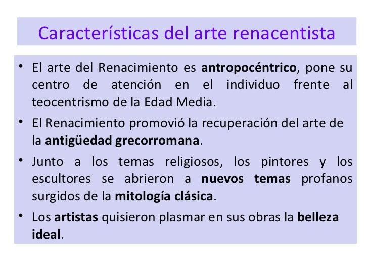 El arte del Renacimiento  2 ESO
