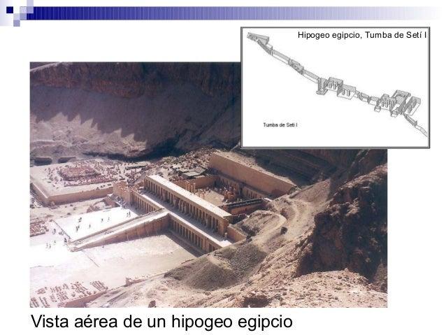Hipogeo egipcio, Tumba de Setí I Vista aérea de un hipogeo egipcio