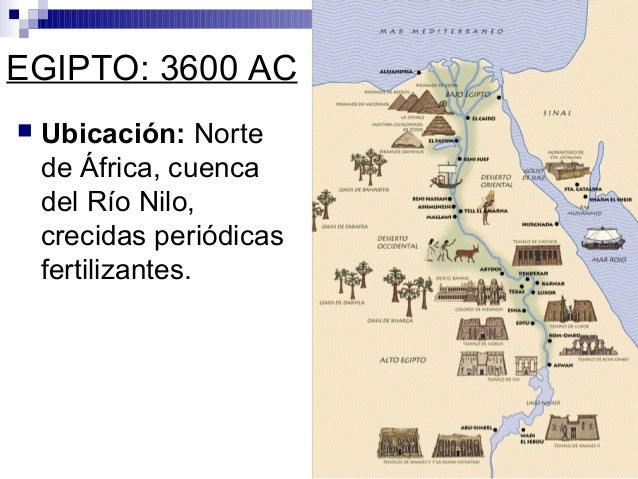 EGIPTO: 3600 AC  Ubicación: Norte de África, cuenca del Río Nilo, crecidas periódicas fertilizantes.