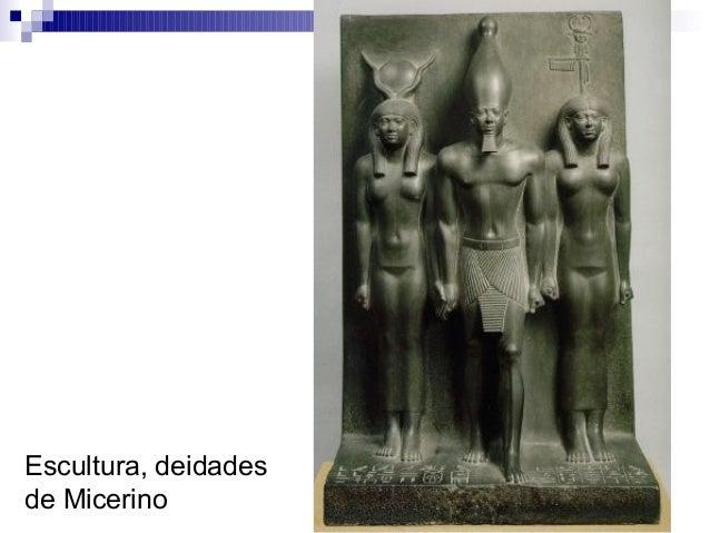 Escultura, deidades de Micerino