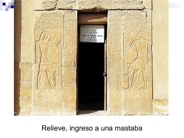 Relieve, ingreso a una mastaba