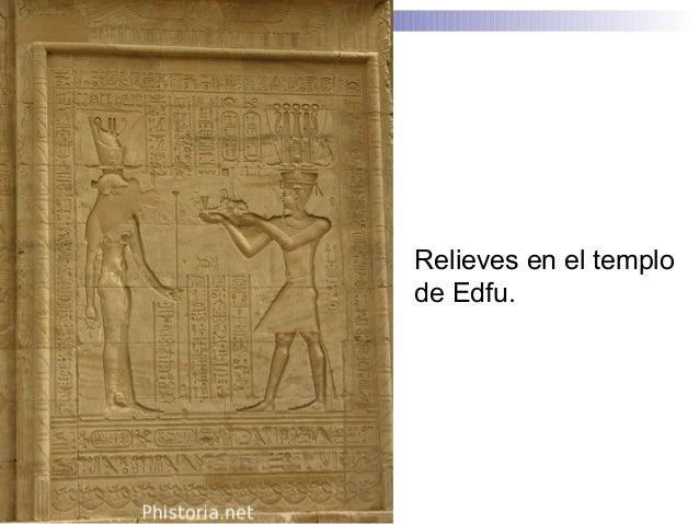Relieves en el templo de Edfu.