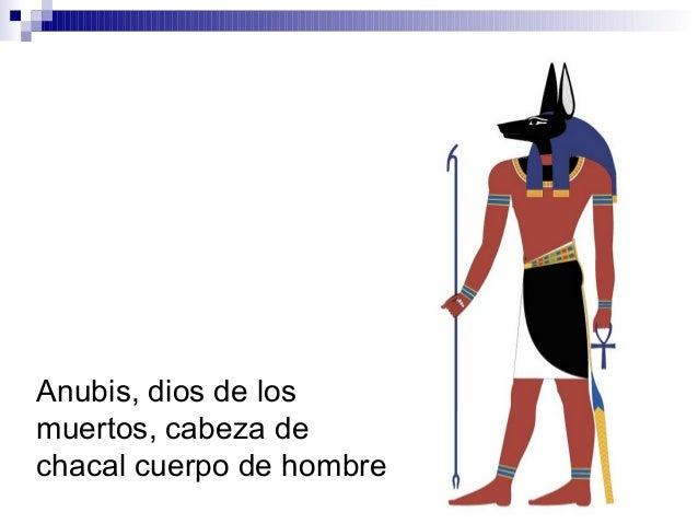 Anubis, dios de los muertos, cabeza de chacal cuerpo de hombre