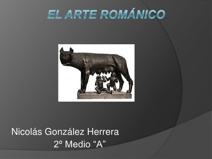 """Nicolás González Herrera         2º Medio """"A"""""""
