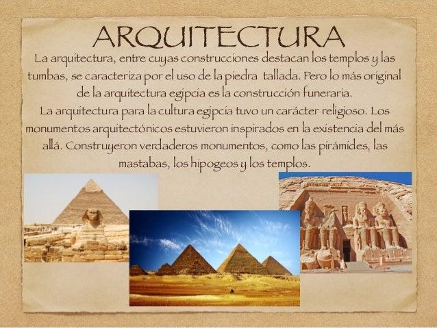 El arte y la cultura del antiguo egipto for Arquitectura egipcia