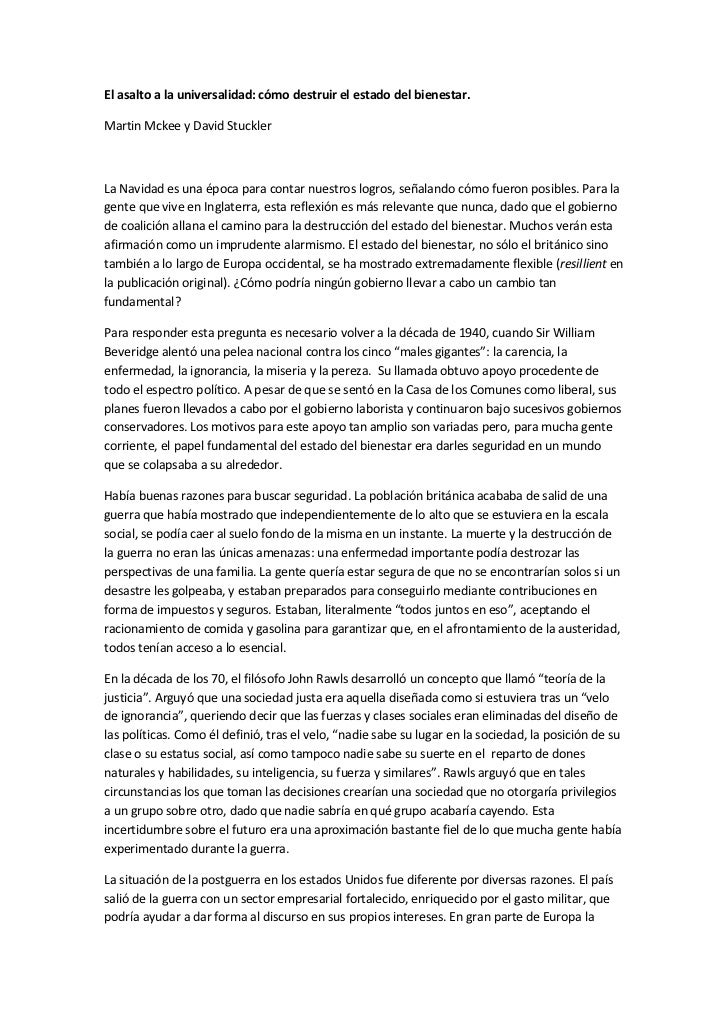 El asalto a la universalidad: cómo destruir el estado del bienestar.Martin Mckee y David StucklerLa Navidad es una época p...