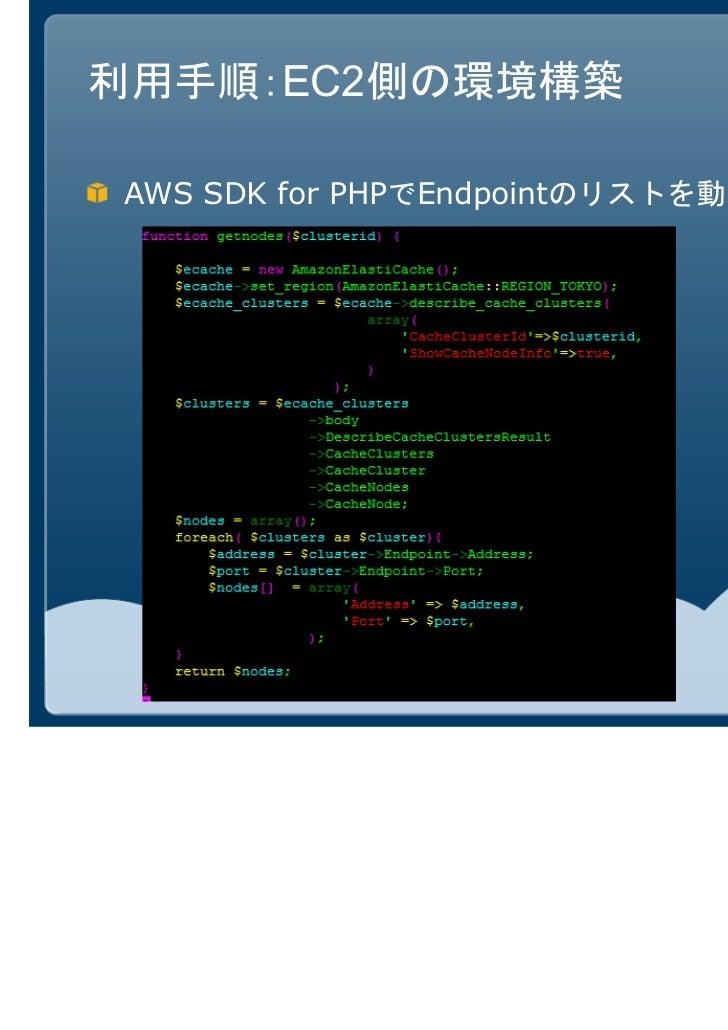 利用手順:EC2側の環境構築AWS SDK for PHPでEndpointのリストを動的に取得