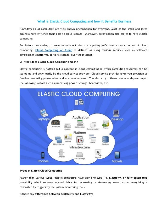 What is Elastic Cloud Computing and how it Benefits Business Nowadays cloud computing are well known phenomenon for everyo...