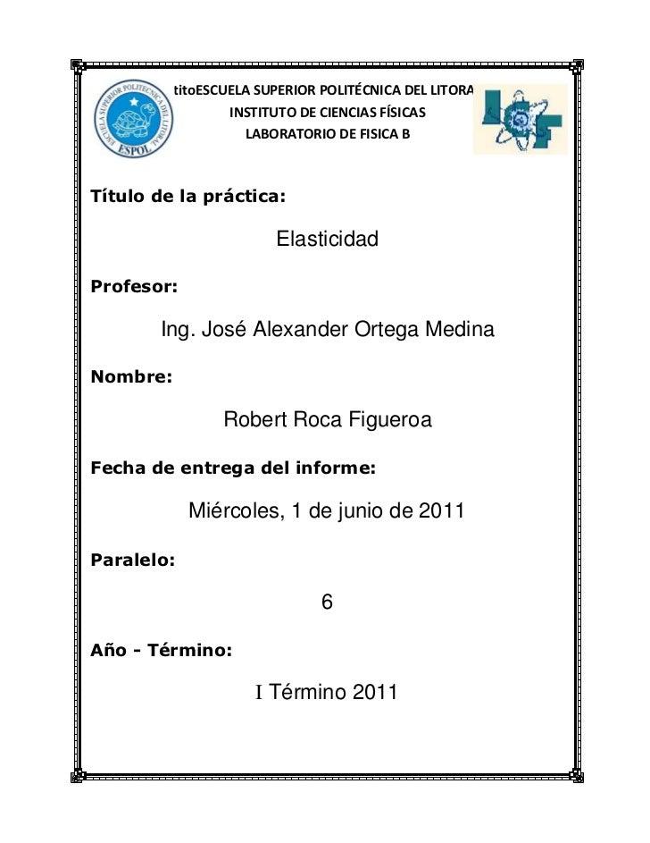 24765431804577715100330titoESCUELA SUPERIOR POLITÉCNICA DEL LITORAL<br />INSTITUTO DE CIENCIAS FÍSICAS<br />LABORATORIO DE...