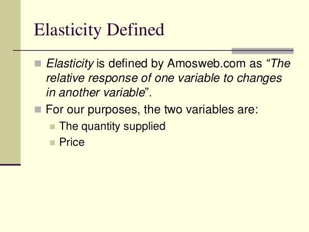 define elasticity of supply