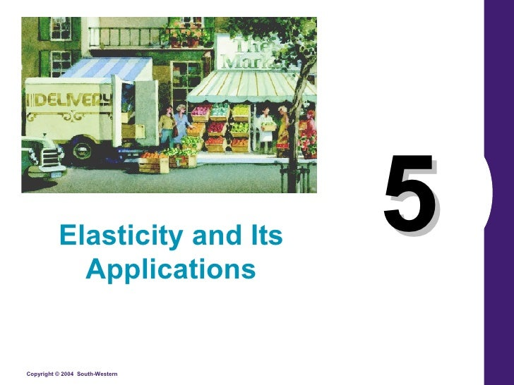 Elasticity and Its             Applications                                  5 Copyright © 2004 South-Western