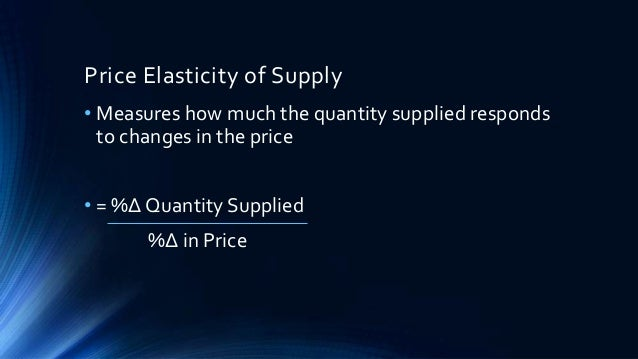application of elasticity of demand in economics