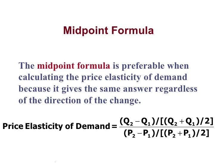 Elasticity & forecasting