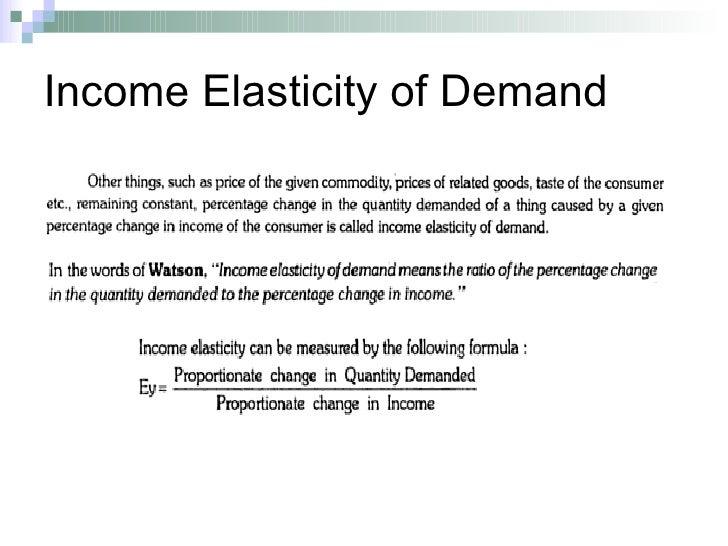 advantages of income elasticity of demand