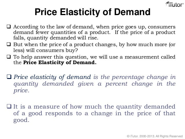tesco price elasticity of demand Gcse economics - business finance - elasticity 1 price elasticity of demand  an  increase in demand then the good is normal (tesco bread) or superior if there.