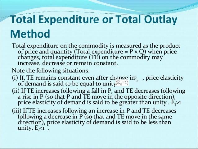 Price Elasticity of Demand (Ed)  P  TE  Ed = 1  Rises or falls  No change  Ed >1  Rises  Decreases  Falls  Increases  Rise...