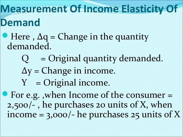 Cross Elasticity of Demand = i.e.  Proportionate change in Demand for product X Proportionate change in Price of product Y...