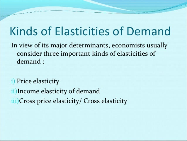 Importance of the concept 'ELASTICITY' This concept plays a crucial role in business-decisions regarding fixing of price w...