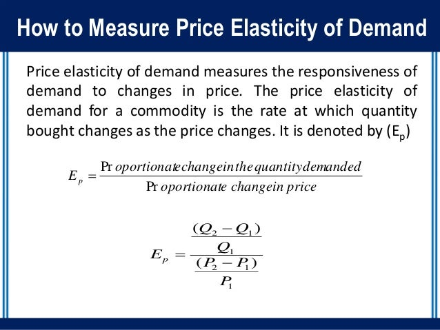 TYPES AND MEASUREMENTS OF ELASTICITY OF DEMAND