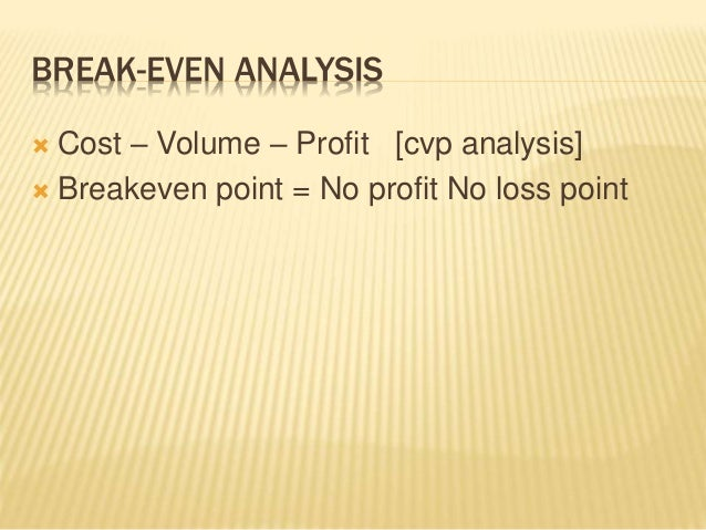 elasticity on demand breakeven analysis and Cost & breakeven analysis  demand elasticity is a measure of how much the quantity demanded will change if another factor changes changes in demand.