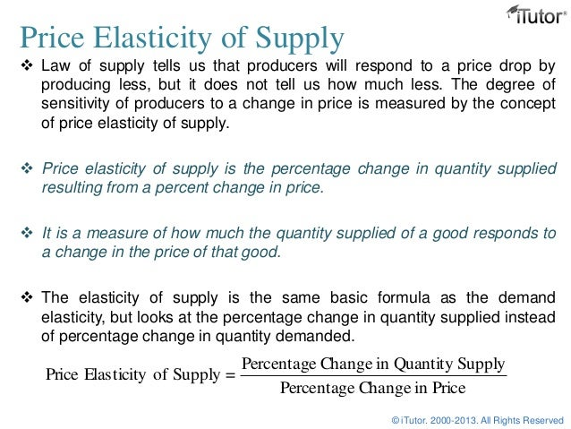 Elasticity Of Supply