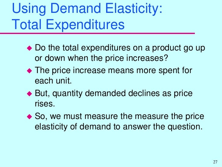 elasticity of demand and supply boeing These days, the price elasticity of demand of airplane became more elastic impacts on boeing's market share generally, the technological advancement and globalization enhanced the global market share of boeing.