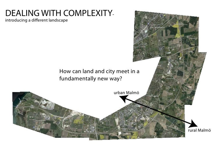 DEALING WITH COMPLEXITY- introducing a di erent landscape                                How can land and city meet in a  ...