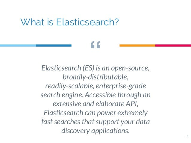 Elasticsearch, a distributed search engine with real-time analytics