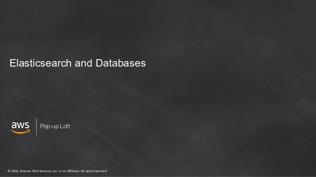 Amazon Elasticsearch and Databases