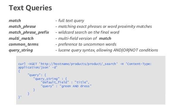 Amazon Elasticsearch and Databases