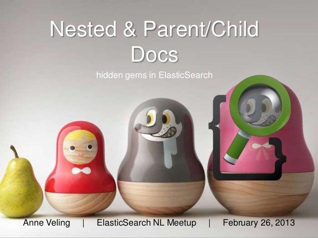 Nested & Parent/Child              Docs                  hidden gems in ElasticSearchAnne Veling   |   ElasticSearch NL Me...