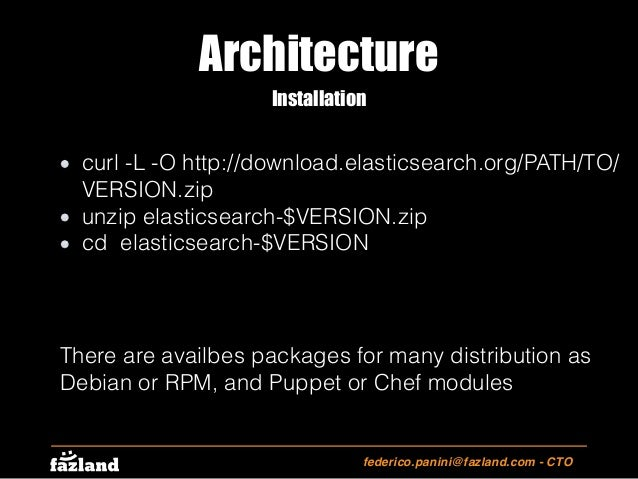 Elasticsearch quick Intro (English)