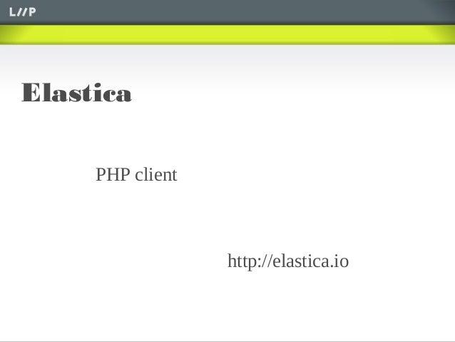 Elasticahttp://elastica.ioPHP client