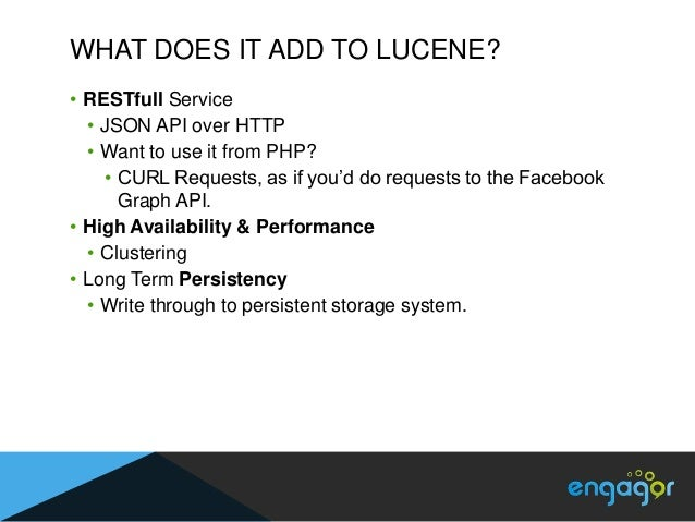 DISTRIBUTED & HIGHLY AVAILABLE• Multiple servers (nodes) running in a cluster  • Acting as single service  • Nodes in clus...