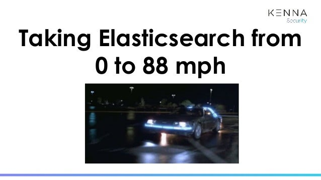 Taking Elasticsearch from 0 to 88 mph By: Molly Struve