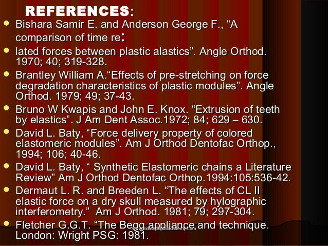 """            REFERENCES:  Bishara Samir E. and Anderson George F., """"A comparison of time re: lated forces between p..."""