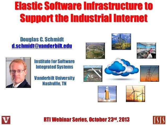 Elastic Software Infrastructure to Support the Industrial Internet Douglas C. Schmidt d.schmidt@vanderbilt.edu Institute f...
