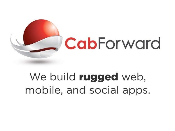 Elasticsearch:Beyond the Railscasts       Scott Hamilton   scott@cabforward.com