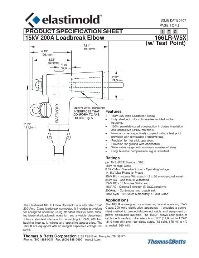 Elastimold loadbreak elbows amp lr