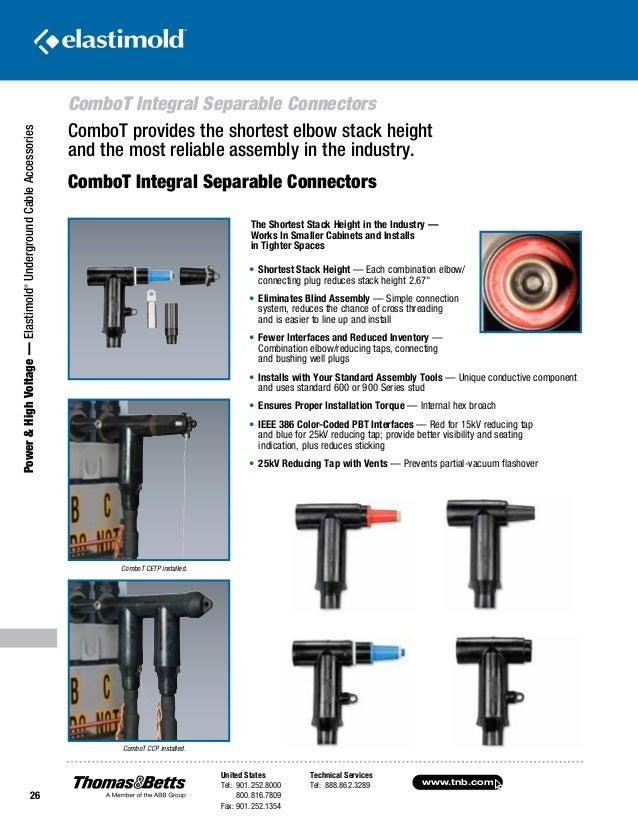 Elastimold dead break load connectors elbows