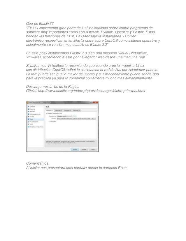 """Que es Elastix??""""Elastix implementa gran parte de su funcionalidad sobre cuatro programas desoftware muy importantes como ..."""