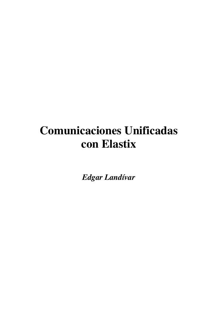 Elastix Book Comunicaciones Unificadas(Asterisk)